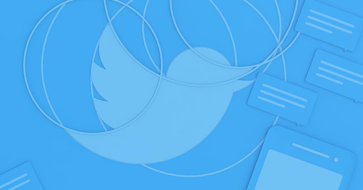 Image illustrant un oiseau Twitter sur fond bleu