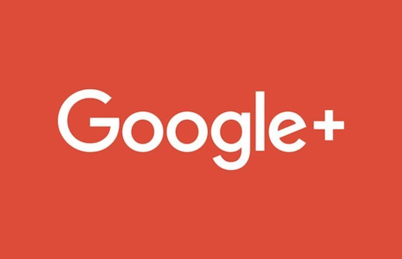 Logo du réseau social de Google. Google plus sur fond rouge.