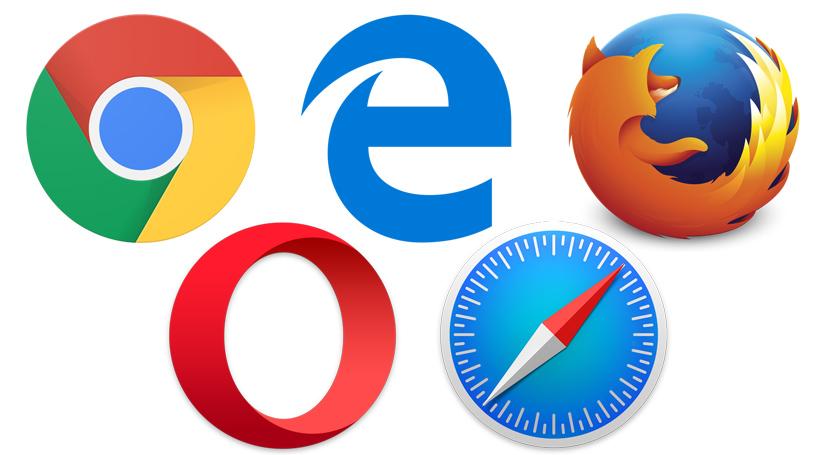 Logos des différents navigateurs web les plus utilisés