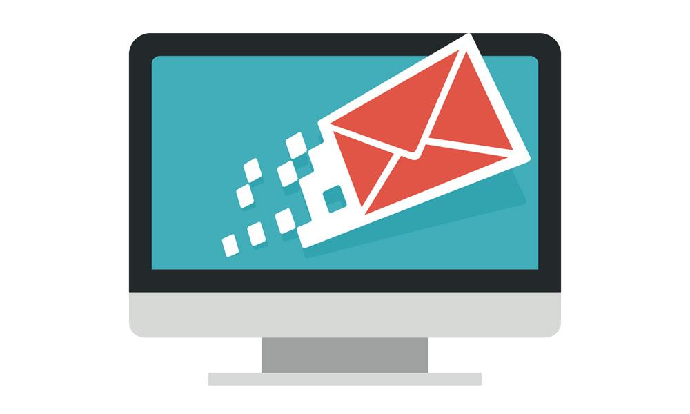 Conseils pour le marketing par courriel. Image représentant un ordinateur et un email.