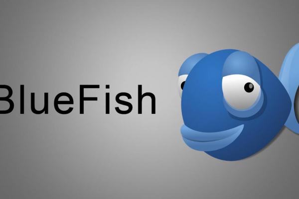 Logo de l'éditeur Bluefish représentant un poisson bleu