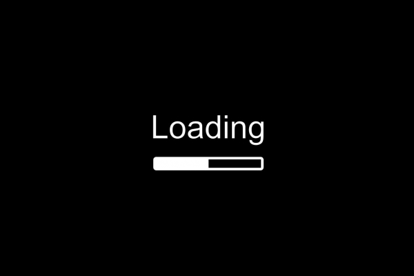 Barre de téléchargement sur fond noir