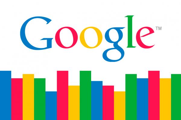 Logo de Google avec des bars